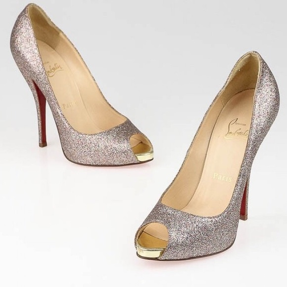 a426e316697 Christian Louboutin Shoes - ACCEPTNG OFFERS 🌙 Louboutin Titi Glitter Peep  Toe